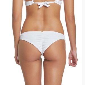 Victorias Secret Ruched Cheeky Bikini Bottom White